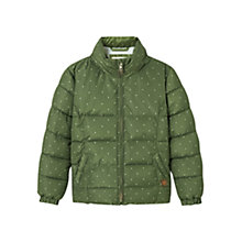 Buy Mango Kids Girls' Printed Quilted Coat, Khaki Online at johnlewis.com