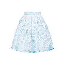 Buy John Lewis Heirloom Collection Girls' Floral Organza Skirt, Blue Online at johnlewis.com