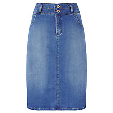 Buy John Lewis Stretch Denim Pencil Skirt, Blue Online at johnlewis.com
