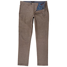 Buy Ted Baker Wegton Classic Fit Trousers, Taupe Online at johnlewis.com