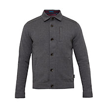 Buy Ted Baker Andino Collared Jersey Jacket, Grey Marl Online at johnlewis.com