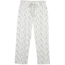 Buy Fat Face Chute Star Print Pyjama Bottoms, Grey Marl Online at johnlewis.com