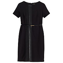 Buy Precis Petite Stephanie Ponte Panelled Dress, Black Online at johnlewis.com