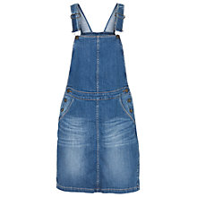 Buy Fat Face Cora Dungaree Dress, Denim Online at johnlewis.com