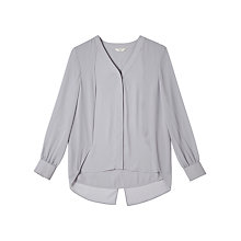 Buy Precis Petite by Jeff Banks Cape Blouse, Mid Grey Online at johnlewis.com