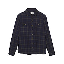Buy Fat Face Rosie Grid Check Shirt, Navy Online at johnlewis.com