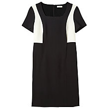 Buy Precis Petite Jeff Banks Mono Shift Dress, Black Online at johnlewis.com