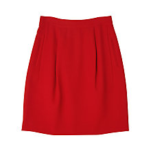 Buy Precis Petite Jeff Banks Crepe Skirt, Dark Red Online at johnlewis.com