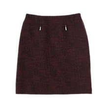 Buy Precis Petite Skye Boucle Skirt, Dark Red Online at johnlewis.com