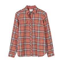 Buy Fat Face Rosie Check Shirt, Terracotta Online at johnlewis.com