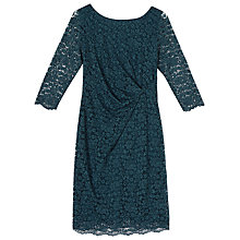 Buy Precis Petite Paige Lace Dress, Mid Green Online at johnlewis.com