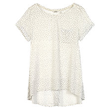 Buy Fat Face Zoe Longline Top, Ivory Online at johnlewis.com