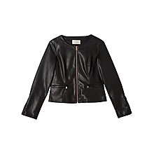 Buy Precis Petite Jeff Banks Faux Leather Jacket, Black Online at johnlewis.com