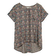 Buy Fat Face Zoe Morris Longline Shirt, Light Grey Online at johnlewis.com