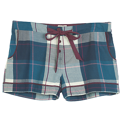 Fat Face Tidworth Check Short, Navy
