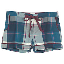 Buy Fat Face Tidworth Check Short, Navy Online at johnlewis.com