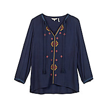 Buy Fat Face Tania Embroidered Popover Top Online at johnlewis.com