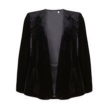 Buy Mint Velvet Velvet Cape, Black Online at johnlewis.com