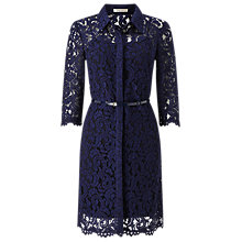 Buy Precis Petite Alaine Lace Shirt Dress, Navy Online at johnlewis.com