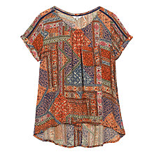 Buy Fat Face Zoe Moroccan Patch Top, Multi Online at johnlewis.com