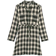 Buy Fat Face Dulcie Check Shirt Dress, Phantom Online at johnlewis.com