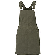 Buy Fat Face Cora Corduroy Dungaree Dress, Seaweed Online at johnlewis.com