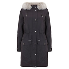Buy Mint Velvet Jersey Lined Parka, Grey Online at johnlewis.com