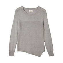 Buy Precis Petite by Jeff Banks Asymmetric Jumper, Mid Grey Online at johnlewis.com