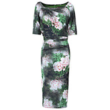Buy Jolie Moi Floral Print Half Sleeve Dress, Green Online at johnlewis.com