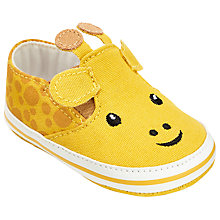 Buy John Lewis Baby Giraffe Canvas Shoes, Yellow/Multi Online at johnlewis.com
