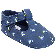 Buy John Lewis Baby Puffin Print T-Bar Pram Shoes, Navy/Multi Online at johnlewis.com