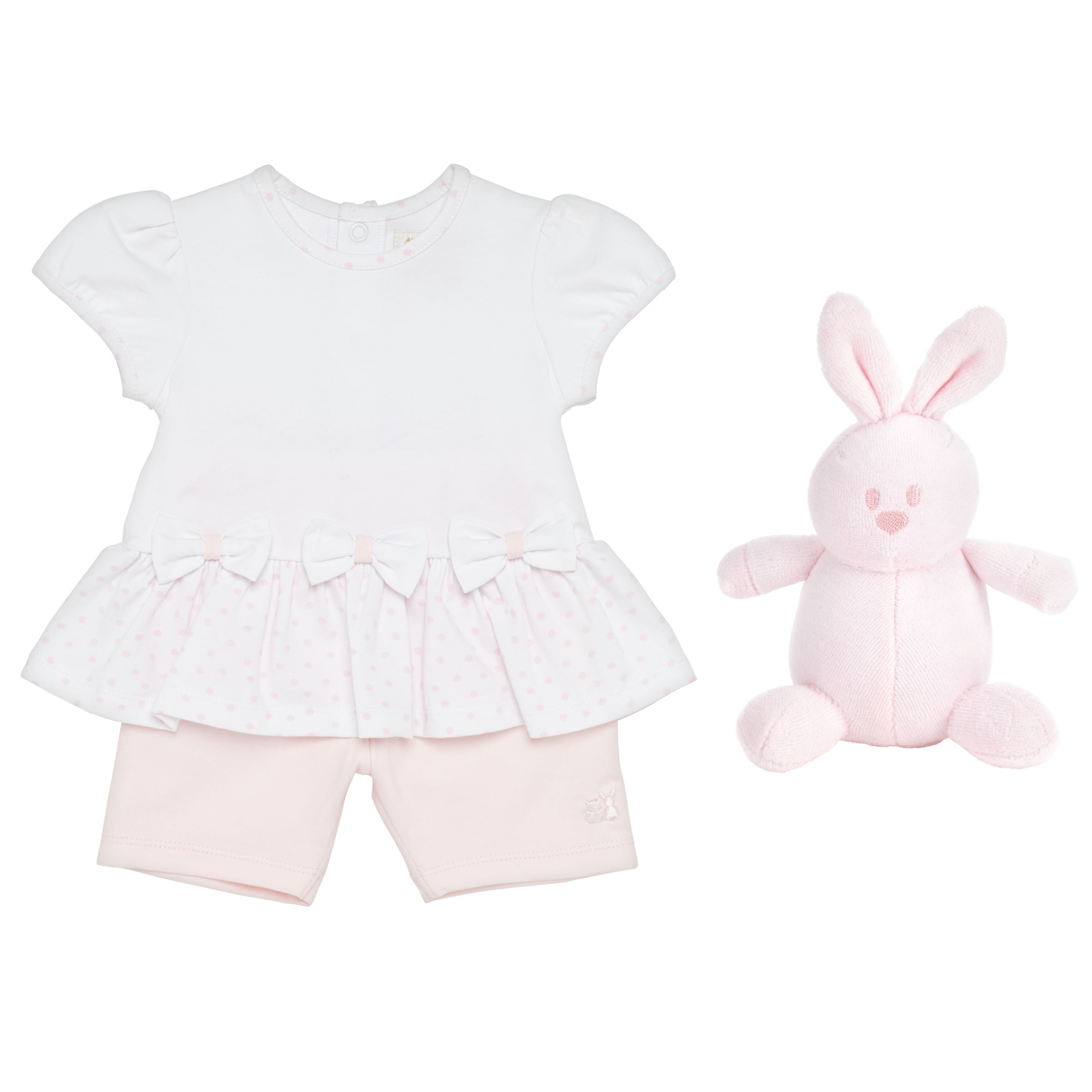 Emile et Rose Emile et Rose Baby Kassidy Two Piece Set, White/Pink