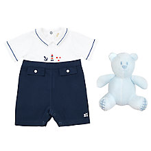 Buy Emile et Rose Baby Keenan Nautical Romper Online at johnlewis.com