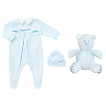 Buy Emile et Rose Baby Kieran Romper and Hat Set, Blue Online at johnlewis.com