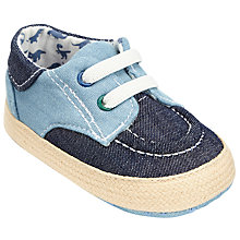 Buy John Lewis Baby Espadrille Boat Shoes, Blue Online at johnlewis.com
