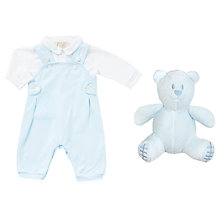 Buy Emile et Rose Baby Kenny Two Piece Dungarees and Shirt Set, Blue Online at johnlewis.com