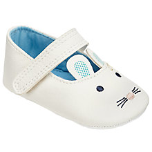Buy John Lewis Baby Mouse Mary Jane Shoes, White Online at johnlewis.com