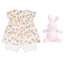 Buy Emile et Rose Baby Kayla Floral Two Piece Dress Set, Pink Online at johnlewis.com