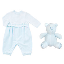 Buy Emile et Rose Baby Kane Striped Knit Romper, Blue Online at johnlewis.com