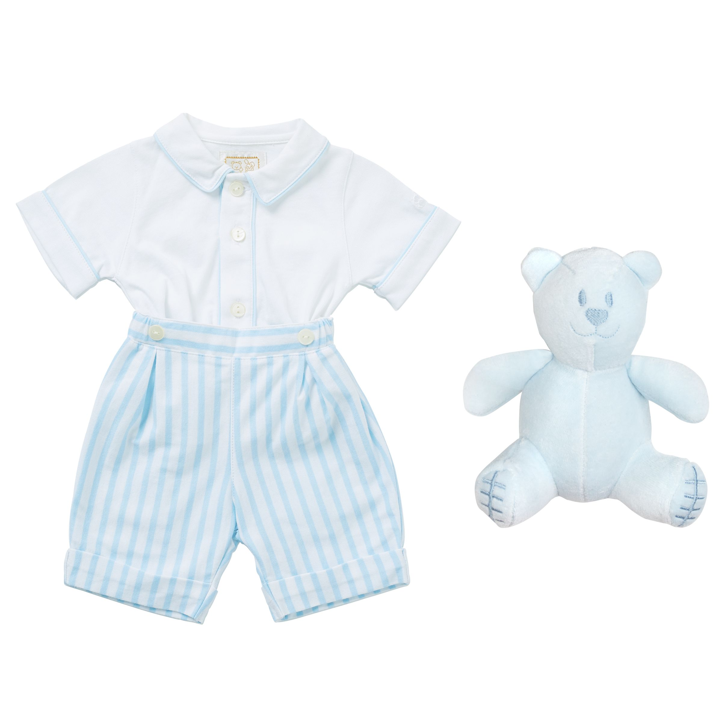Emile et Rose Emile et Rose Baby Kennedy Two Piece Top and Shorts Set, Blue