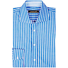 Buy Jaeger Bold Striped Regular Fit Shirt, Blue Online at johnlewis.com