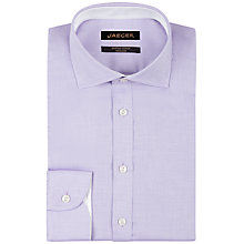 Buy Jaeger Luxury Regular Fit Oxford Shirt, Lilac Online at johnlewis.com