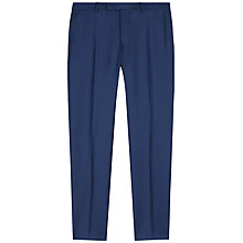 Buy Jaeger Basketweave Wool Slim Suit Trousers, French Navy Online at johnlewis.com