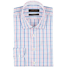 Buy Jaeger Bright Check Regular Fit Shirt, Pink/Multi Online at johnlewis.com