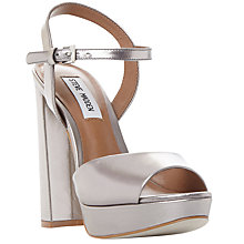 Buy Steve Madden Kierra Platform Block Heeled Sandals, Pewter Online at johnlewis.com
