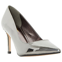 Buy Dune Wide Fit Abbigail Stiletto Heeled Court Shoes, Pewter Metallic Online at johnlewis.com
