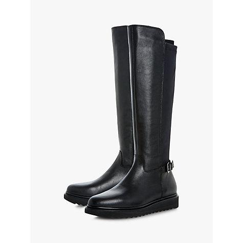 buy dune wide fit tumbridge knee high boots black