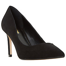 Buy Dune Wide Fit Abbigail Stiletto Heeled Court Shoes, Black Suede Online at johnlewis.com