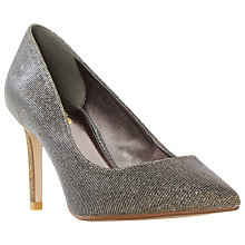 Buy Dune Wide Fit Abbigail Stiletto Heeled Court Shoes, Gold Online at johnlewis.com