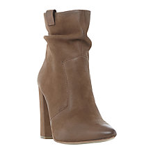 Buy Steve Madden Ruling Block Heeled Ankle Boots, Stone Online at johnlewis.com